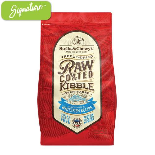 Stella and Chewy's Raw Coated Whitefish Kibble Dog Food