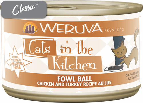 Weruva Cats In The Kitchen Fowl Ball Chicken and Turkey Cat Cans