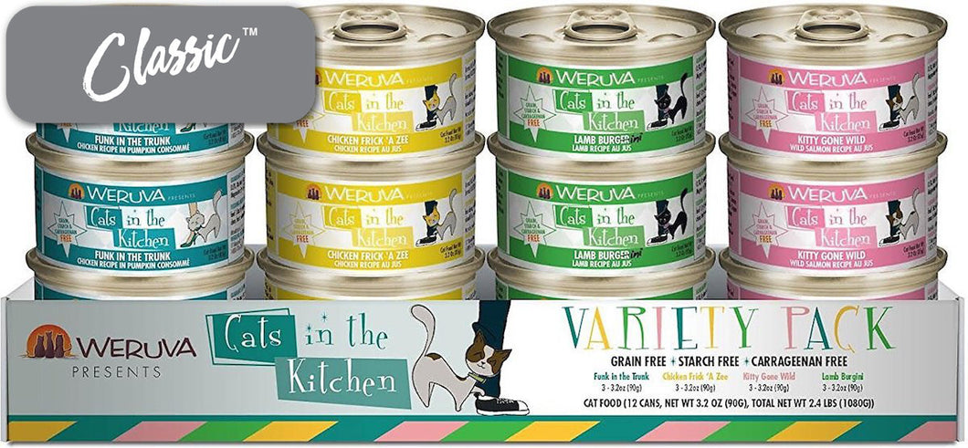 Weruva Cats In The Kitchen Variety Pack Cat Cans