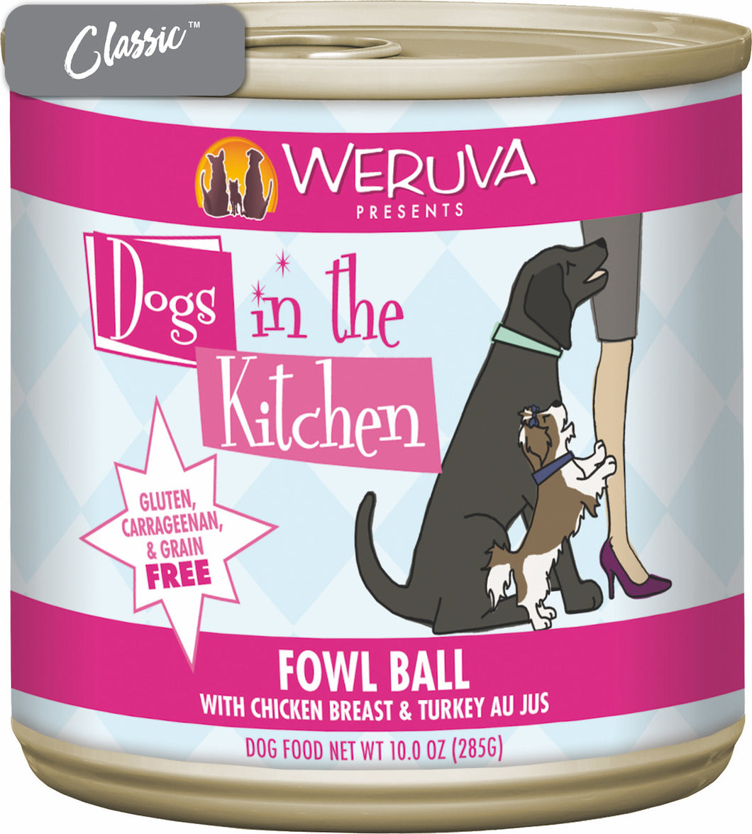 Weruva Dogs In The Kitchen Fowl Ball Chicken Breast and Turkey Dog Cans