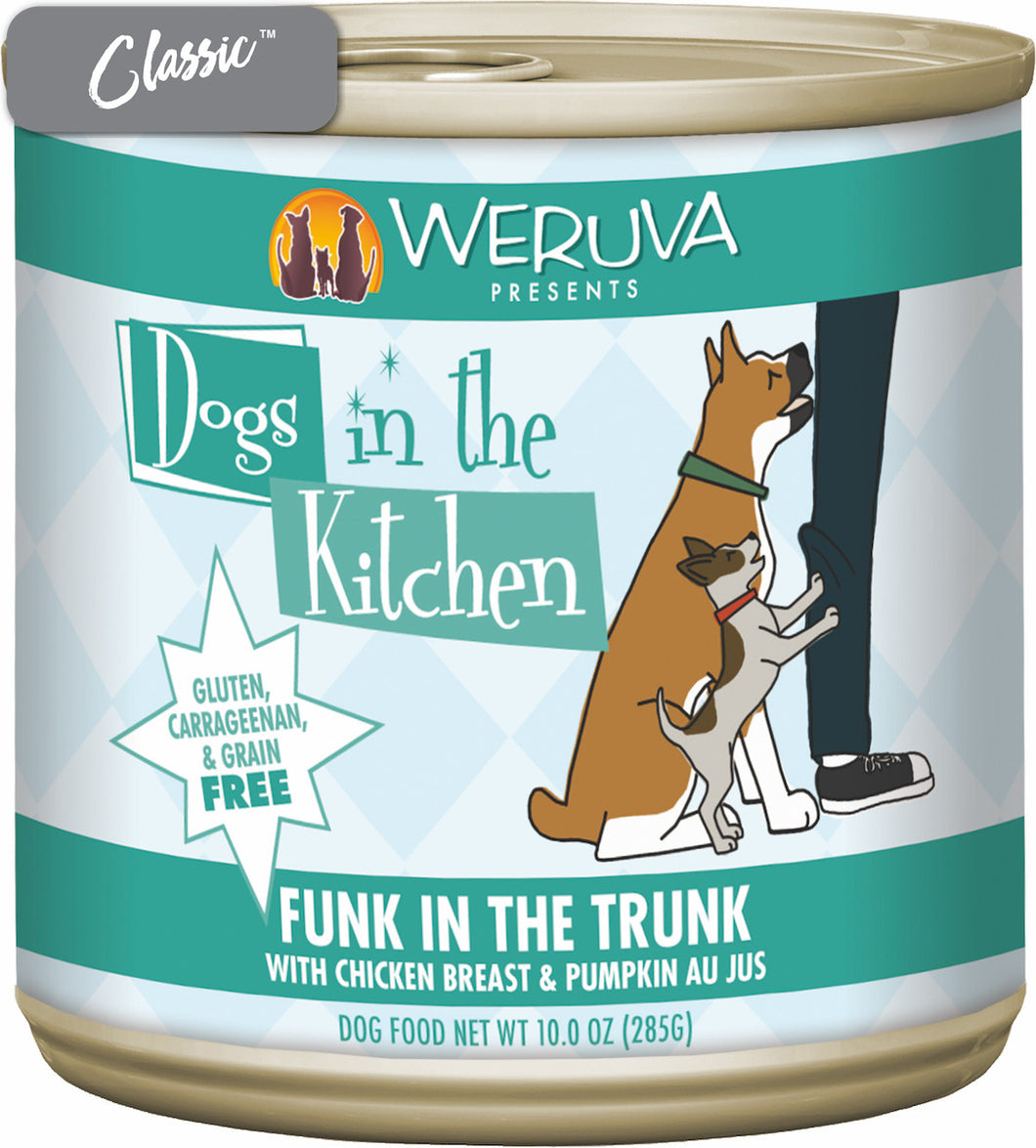 Weruva Dogs In The Kitchen Funk In The Trunk Chicken and Pumpkin Dog Cans