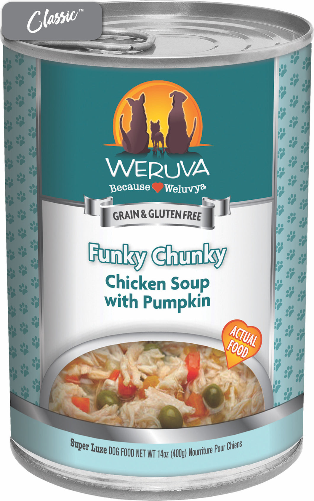 Weruva Funky Chunky Chicken Soup With Pumpkin Dog Cans
