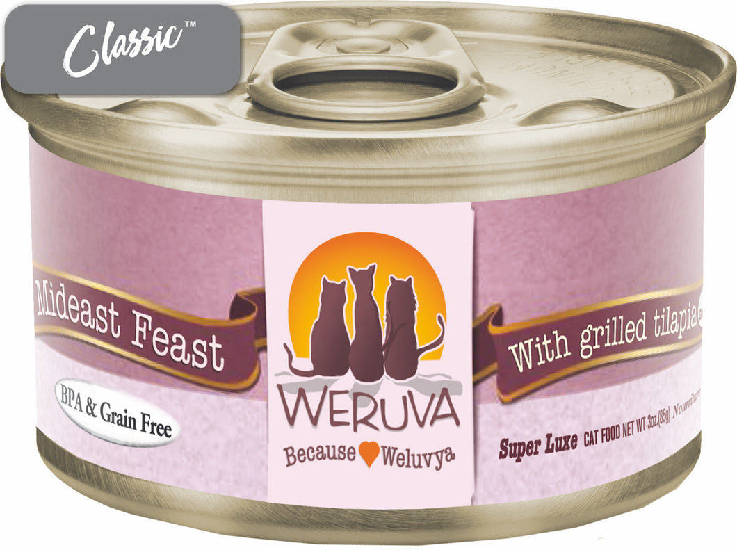 Weruva Grain Free Mideast Feast Grilled Tilapia Canned Cat Cans