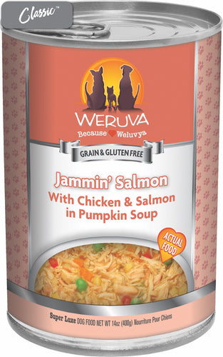 Weruva Jammin' Salmon Chicken, Salmon, and Pumpkin Dog Cans