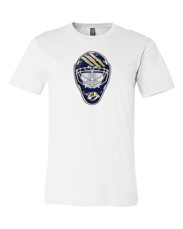 Nashville Predators Goalie Mask front logo Team Shirt jersey shirt