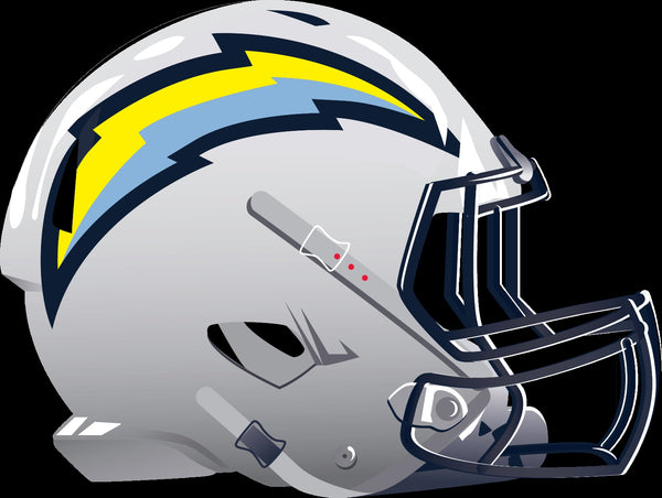 Los Angeles Chargers Alternate Future Helmet logo Vinyl Decal / Sticker 5 sizes!