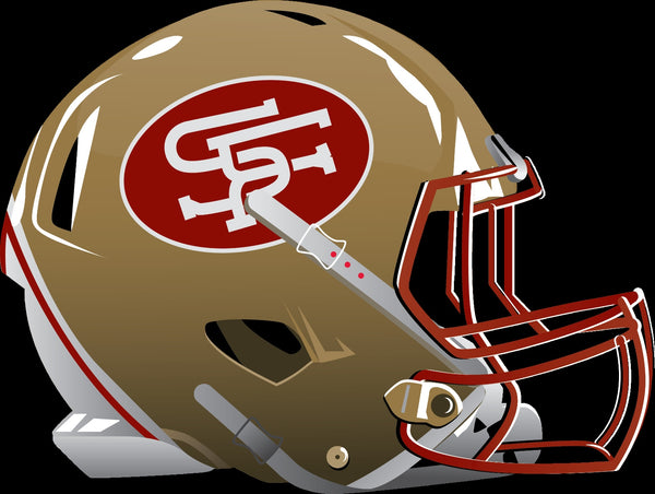 San Francisco 49ers Alternate Future Helmet logo Vinyl Decal / Sticker 5 sizes!!