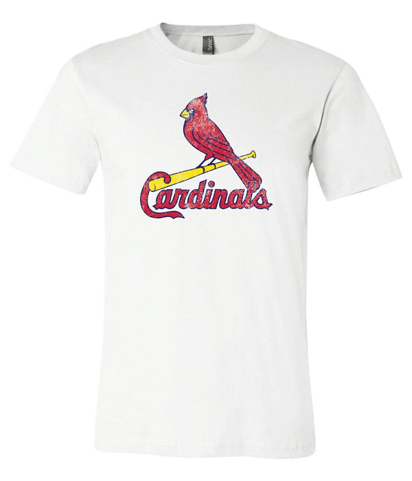 St Luis Cardinals logo Distressed Vintage logo T-shirt 6 Sizes S-3XL!!