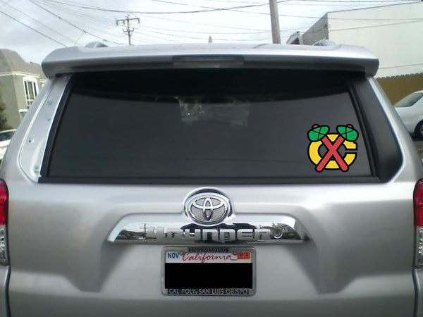 Chicago Blackhawks Alternate Throwback logo Vinyl Decal / Sticker 5 Sizes!!!