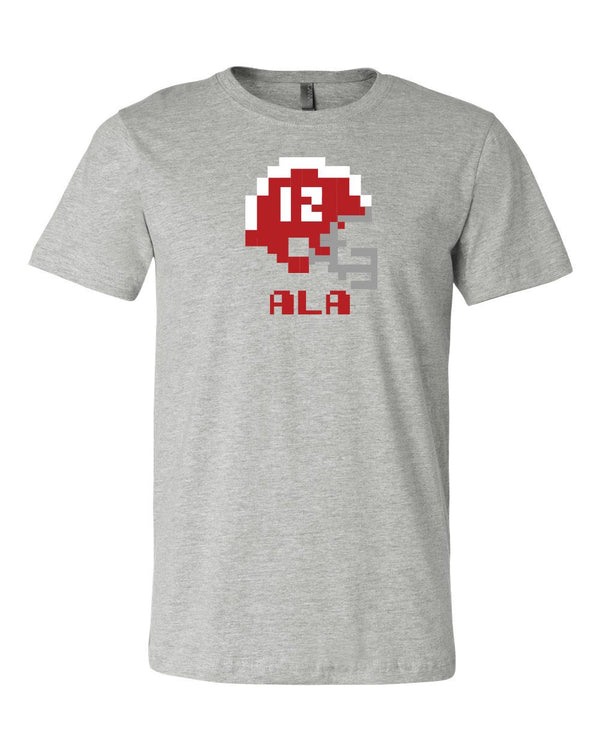 Alabama Crimson Tide Retro Tecmo Bowl Helmet logo T-shirt 6 Sizes S-3XL!!