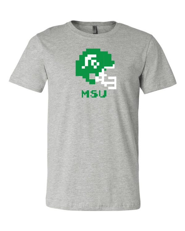 Michigan State Spartans Retro Tecmo Bowl Helmet  T-shirt 6 Sizes S-3XL!!