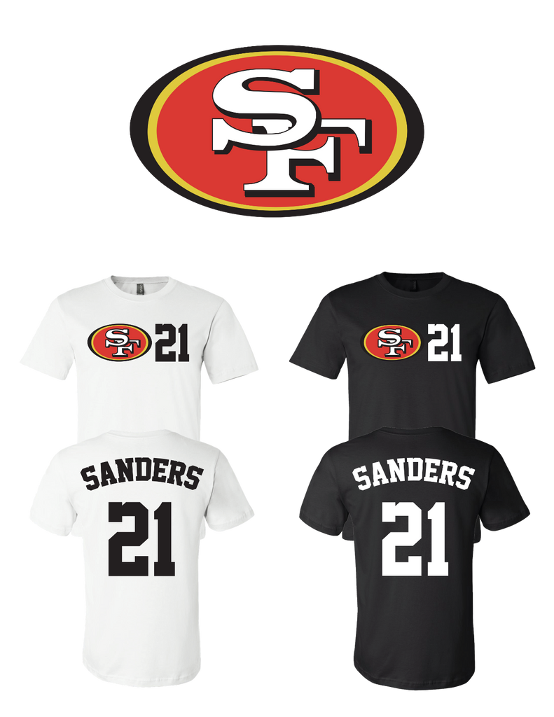 new concept b8152 51eeb Deion Sanders #21 San Francisco 49ers Jersey player shirt