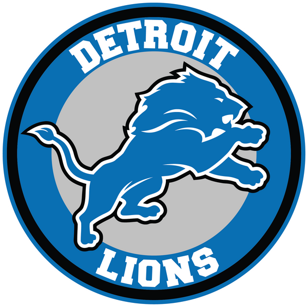 Detroit Lions Circle Logo Vinyl Decal / Sticker 10 sizes!!