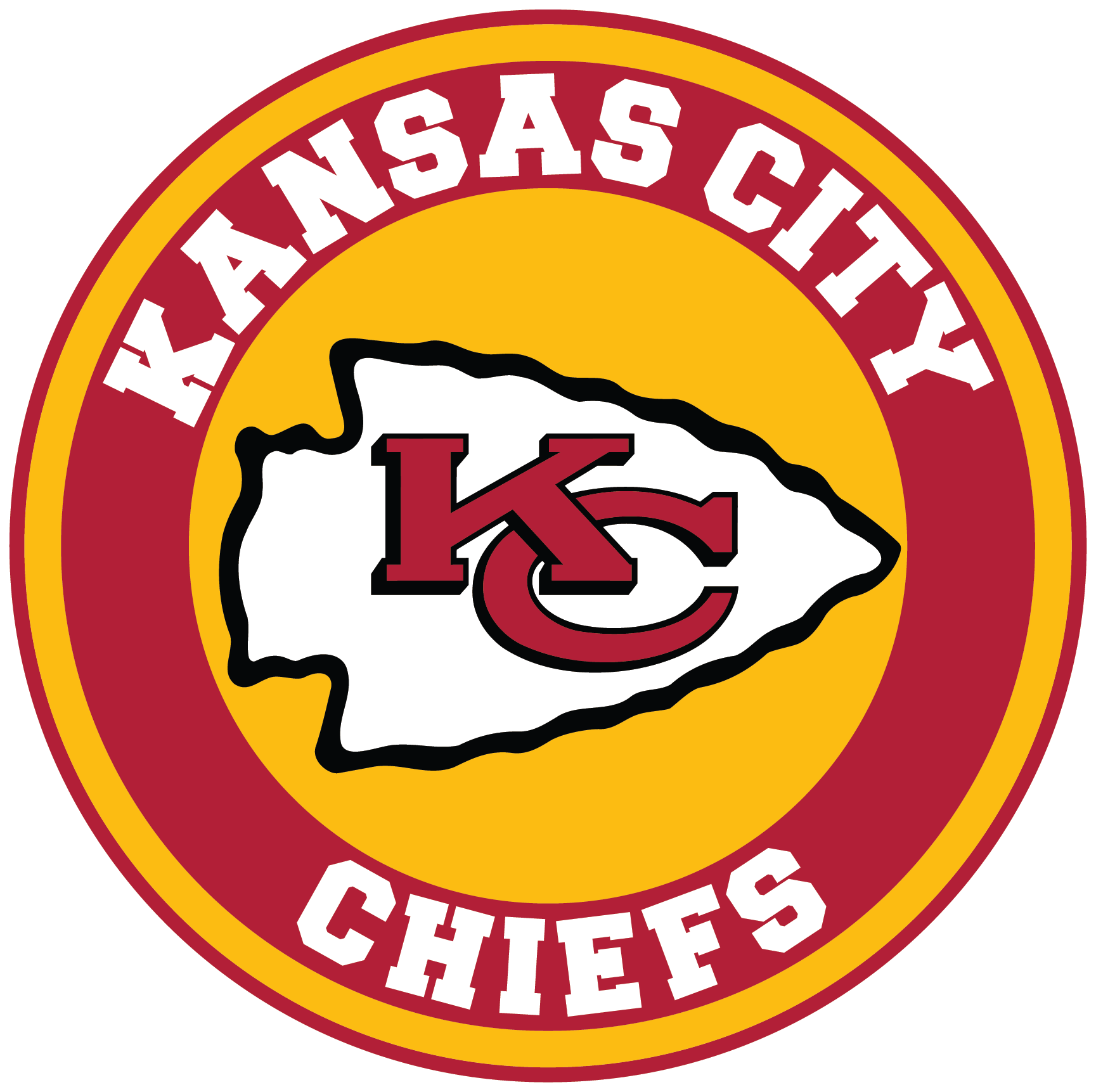 Kansas City Chiefs Circle Logo Vinyl Decal Sticker 5 Sizes Sportz For Less