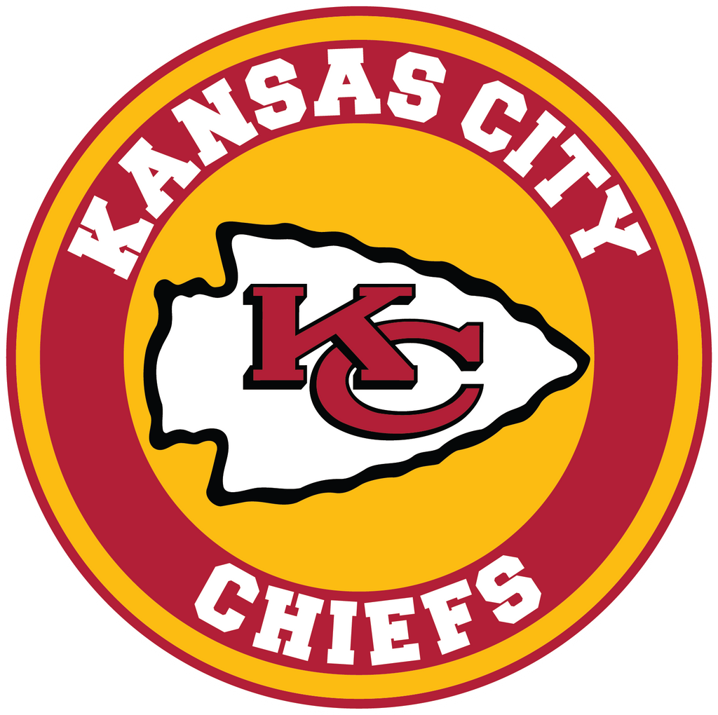 Kansas City Chiefs Circle Logo Vinyl Decal Sticker 5