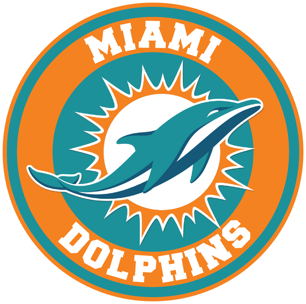 Miami Dolphins Circle Logo Vinyl Decal / Sticker 5 sizes!!