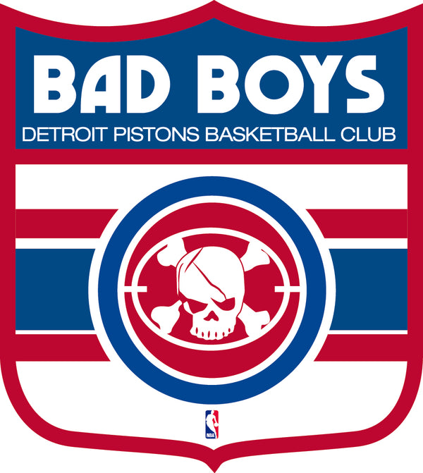 Detroit Pistons Shield  Logo Vinyl Decal / Sticker 2 Inches to 48 Inches!!