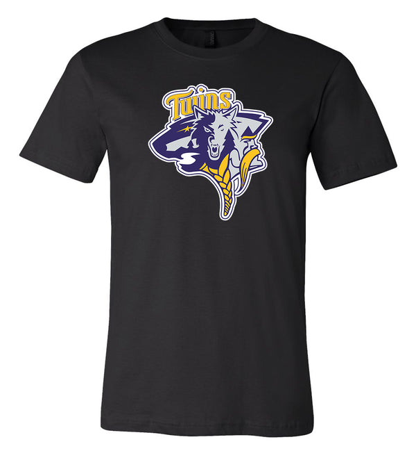 Minnesota Vikings Twins Wild MASH UP Logo T-shirt 6 Sizes S-3XL!!