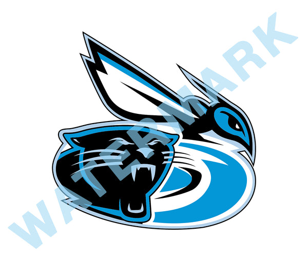 Carolina Panthers Hurricanes Hornets MASH UP Vinyl Decal / Sticker 10 Sizes!!!