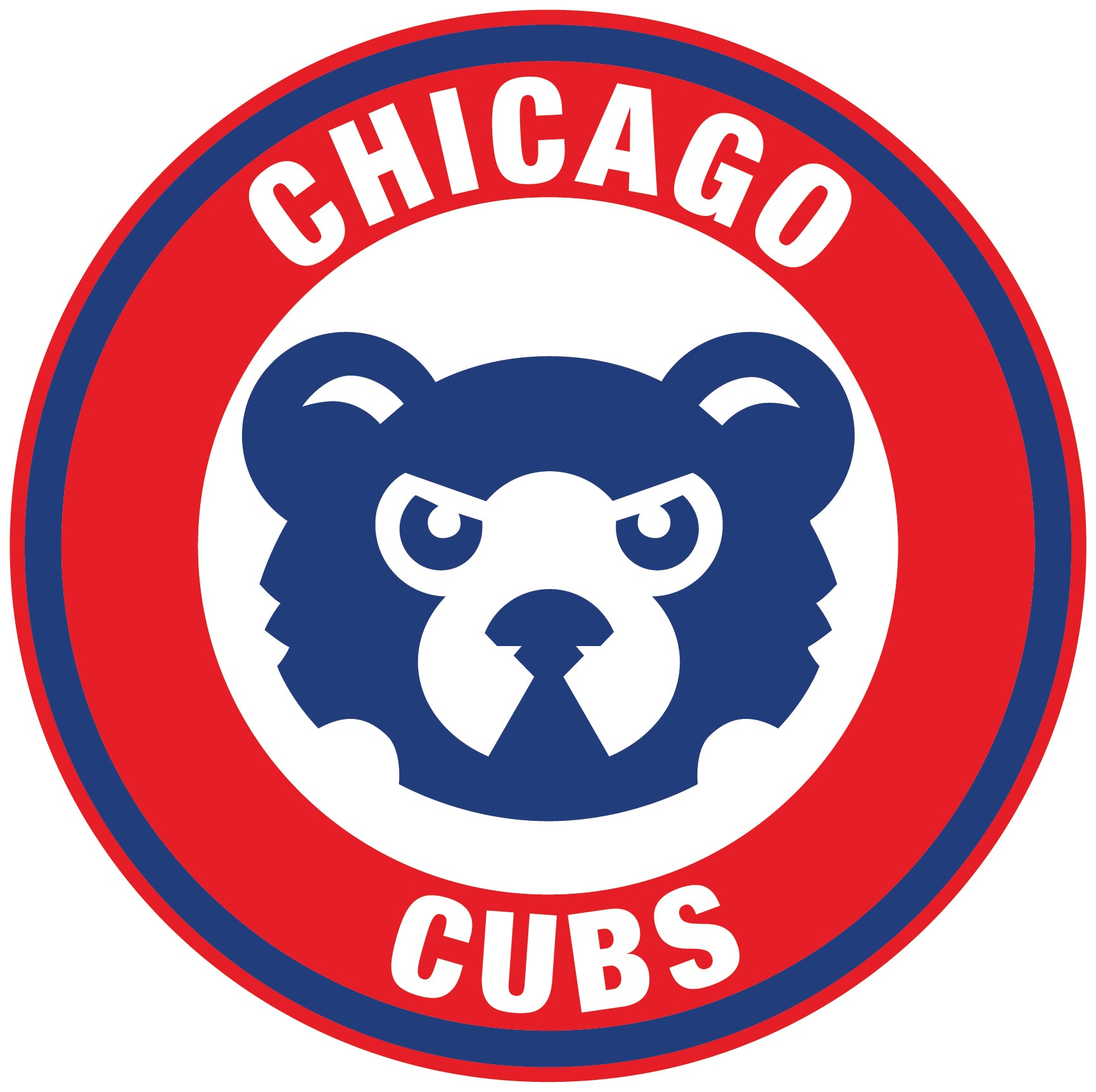 """Chicago Cubs Vinyl Decal//Sticker 5/"""" by 5/"""" TWO PACK"""