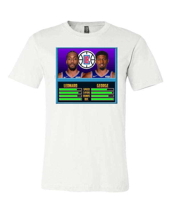 Los Angeles Clippers kawhi Leonard Paul George NBA JAM  T-shirt 6 Sizes S-3XL!!