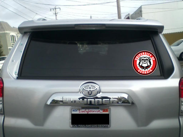 Georgia Bulldogs Circle Logo Sticker / Vinyl Decal 10 sizes❗️🏈
