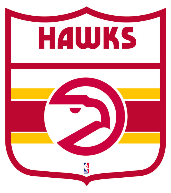 Atlanta Hawks Shield  Logo Vinyl Decal / Sticker 2 Inches to 48 Inches!!