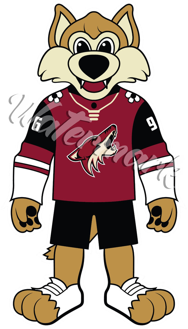 Phoenix Coyotes Mascot Sticker / Vinyl Decal | Howler Mascot Sticker 🏒🏆
