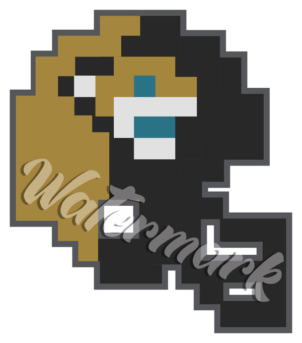 Jacksonville Jaguars 8 bit Tecmo Bowl Logo Vinyl Decal  Sticker 10 sizes!!! 🏈👾