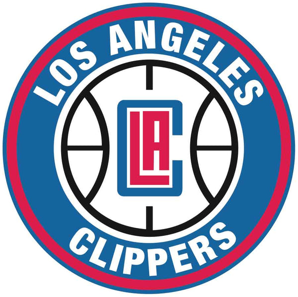 Los Angeles Clippers Circle Logo Vinyl Decal / Sticker 5 sizes!!