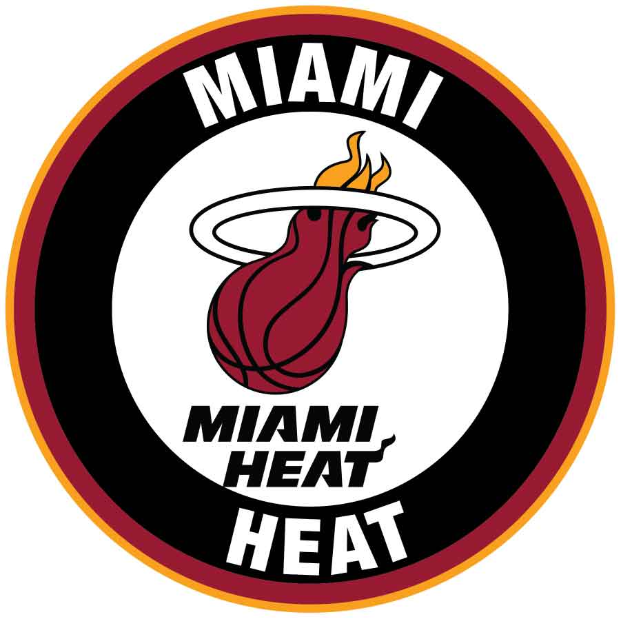 Miami Heat Circle Logo Vinyl Decal Sticker 5 Sizes Sportz For Less