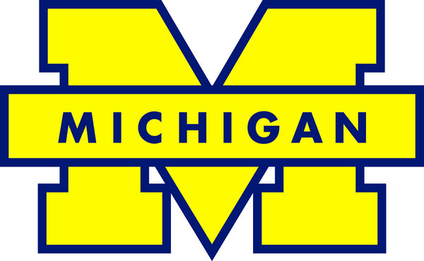 Michigan Wolverines Yellow M Logo Vinyl Decal / Sticker 5 Sizes!!!