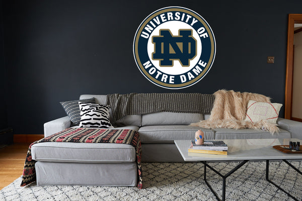 Notre Dame ND Circle Logo Vinyl Decal / Sticker 10 sizes!!!