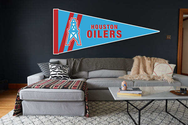 Houston Oilers Pennant Sticker Vinyl Decal / Sticker 10 sizes!!