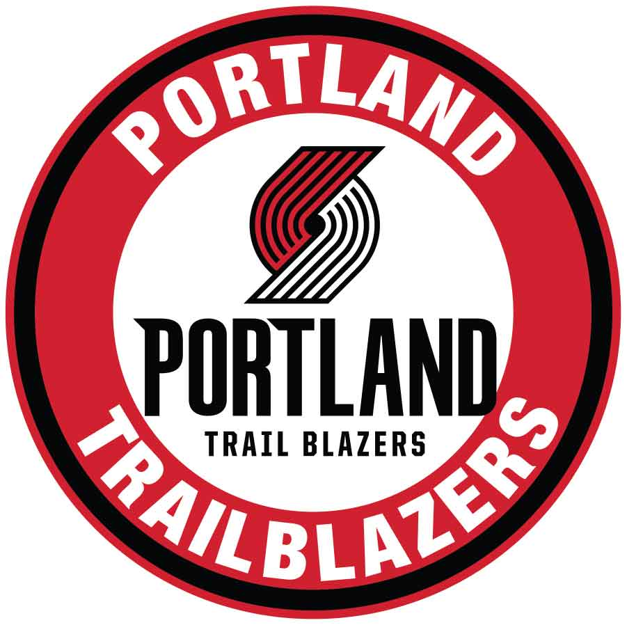 Portland Trail Blazers Main Circle Logo Vinyl Decal Sticker 5 Sizes Sportz For Less