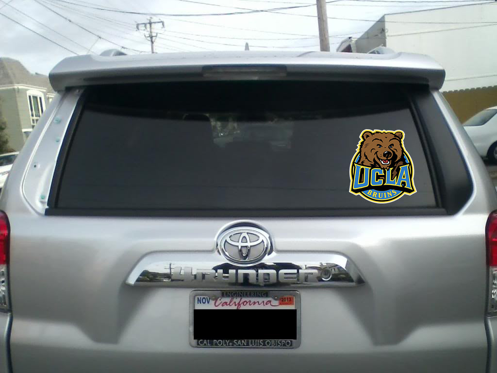 Ucla Window Decal With Images Ucla Jr Sports Dream College