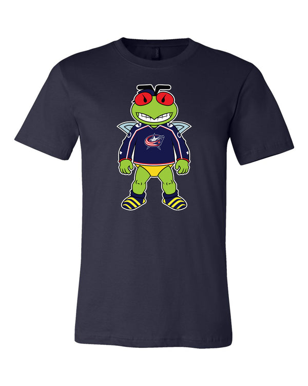 Columbus Blue Jackets Mascot Shirt | Stinger Mascot Shirt 🏒🏆