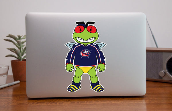 Columbus Blue Jackets Mascot Sticker / Decal | Stinger Mascot Sticker 🏒🏆