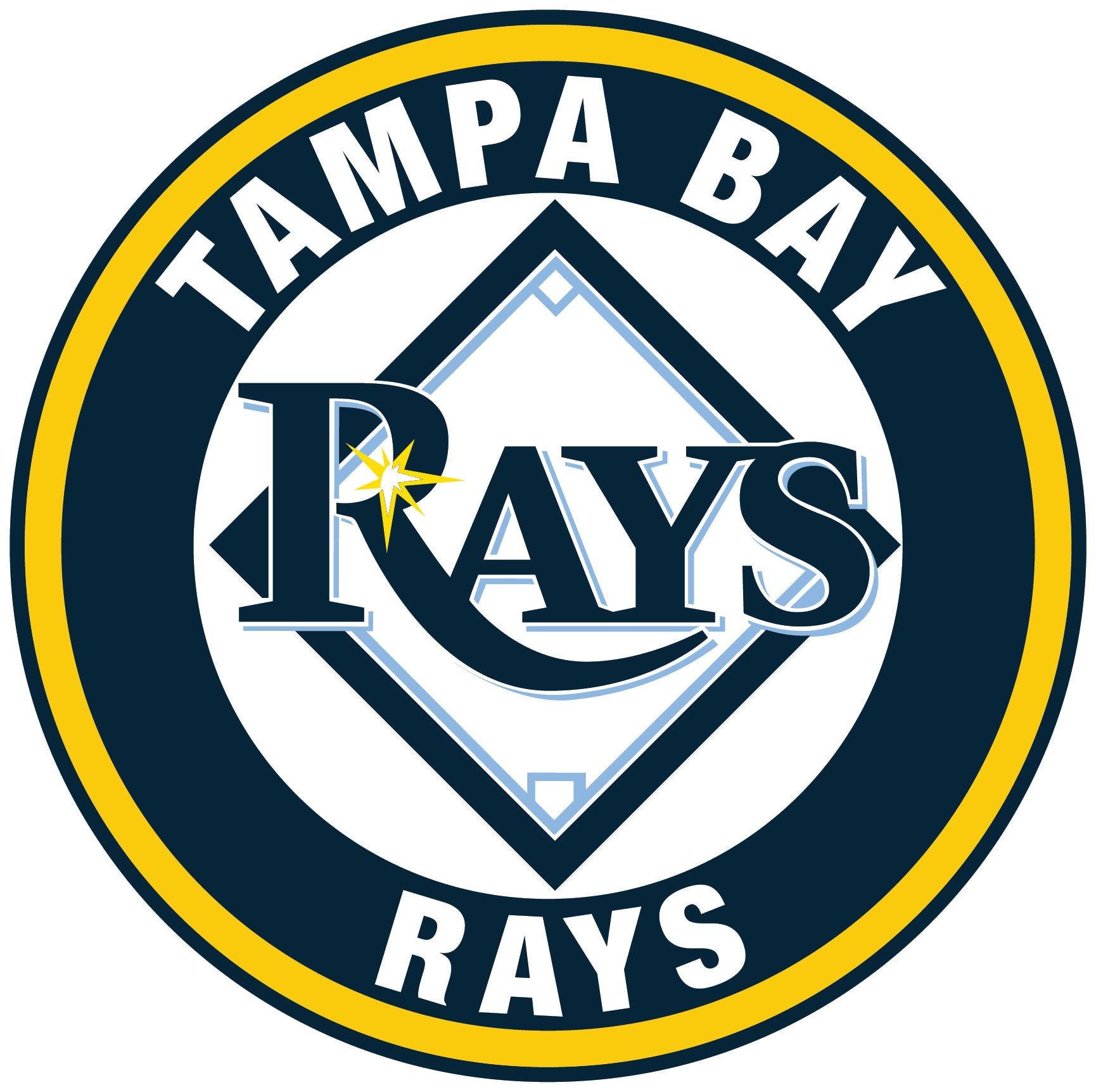 Tampa Bay Rays logo Circle Logo Vinyl Decal Sticker 5 sizes!! | Sportz For Less