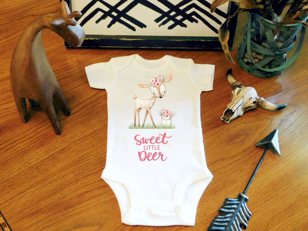 Baby Girl Clothes Baby Girl Coming home Outfit Baby Girl Deer