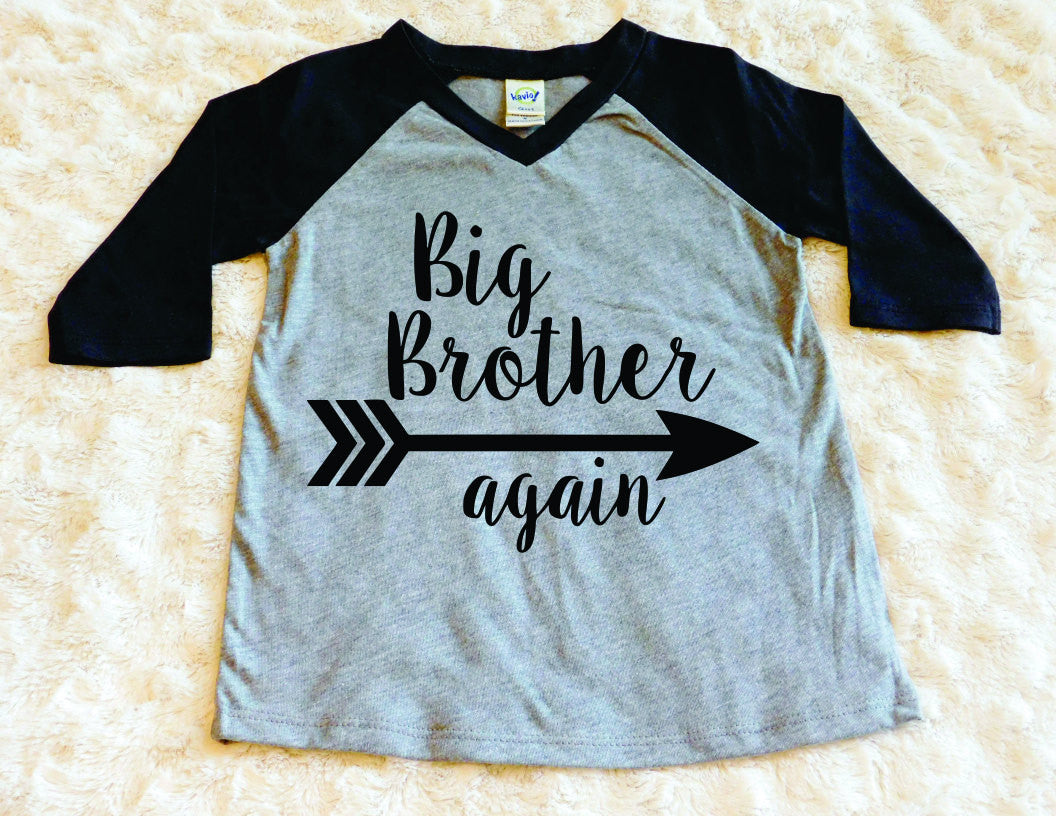 2cb79d9adbbab Big Brother Shirt Big Bro Shirt Raglan Shirt Big Brother Again Shirt  Toddler Boy Baseball Tee