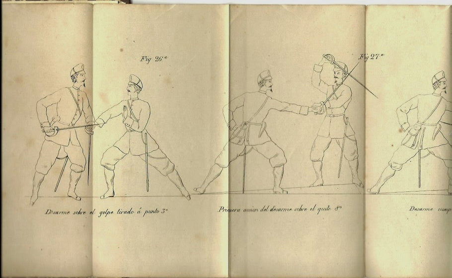 Concepts of abecedario, numerado and the modern positions of Saber fencing and its relationship to military fencing