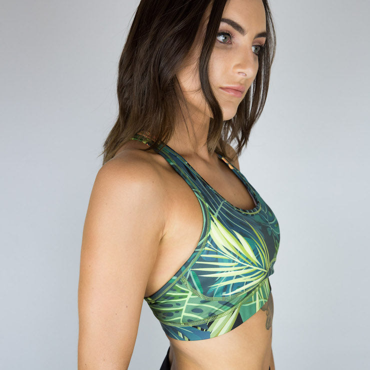 Jungle Print Padded Sports Bra