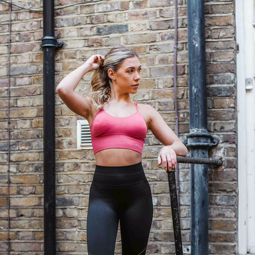 Pyrite Seamless Sports Bra Pink