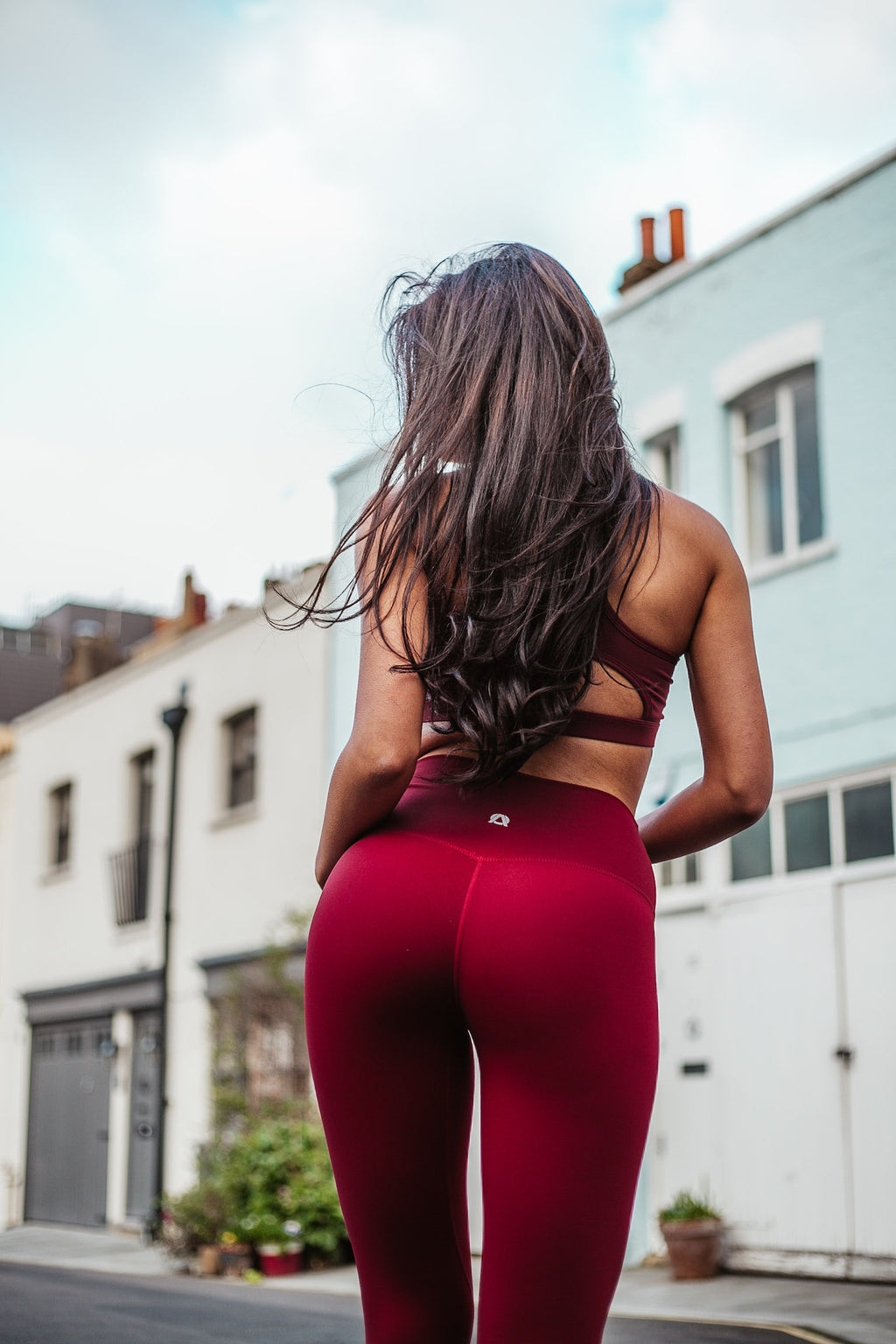Burgundy Aurora Leggings