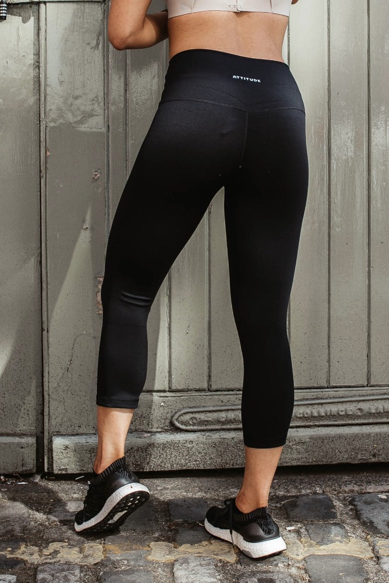 Black Aurora Leggings Capri Length