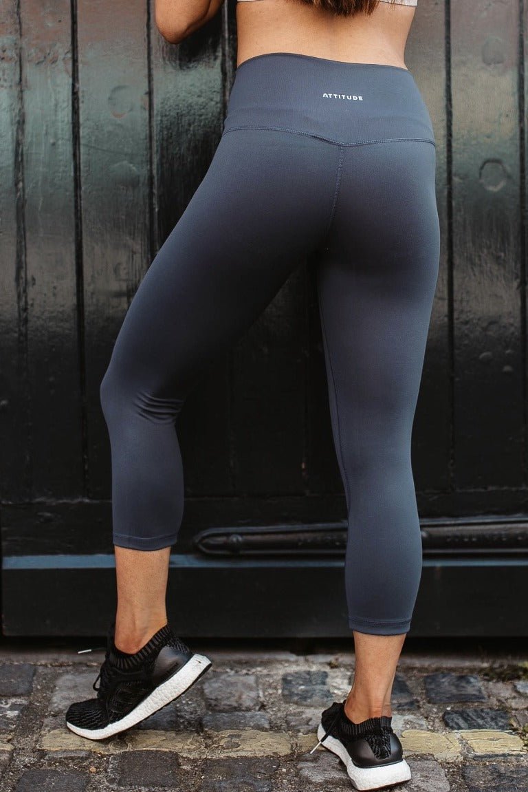 Lilac Grey Aurora Leggings Capri Length