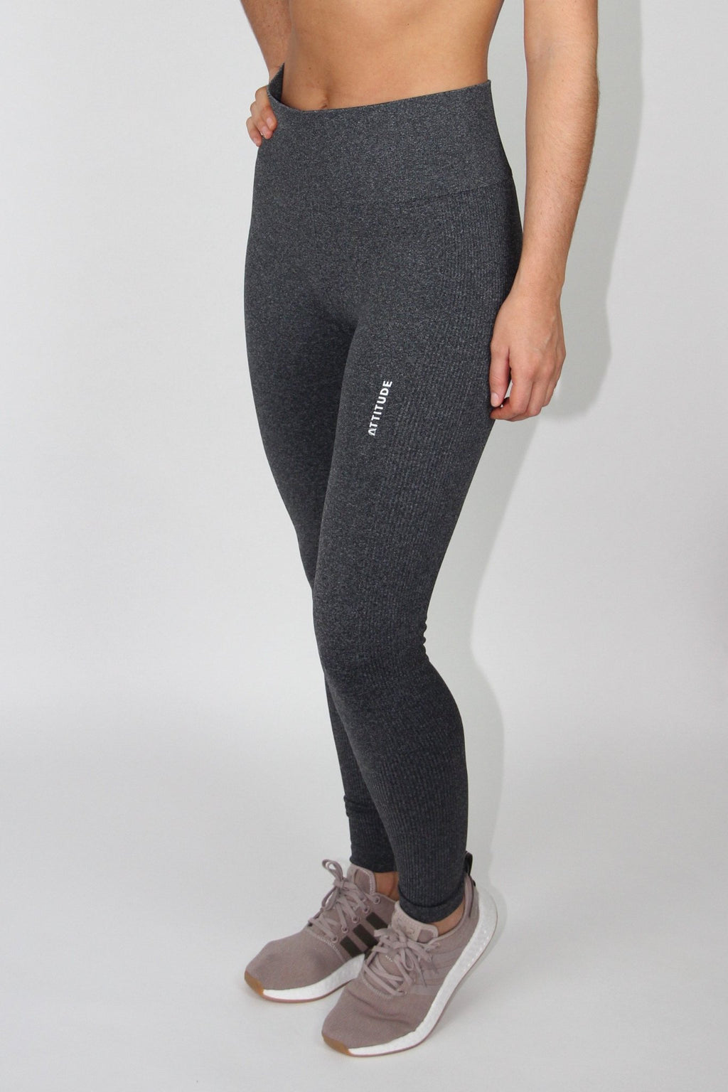 Dark Grey ribbed seamless leggings