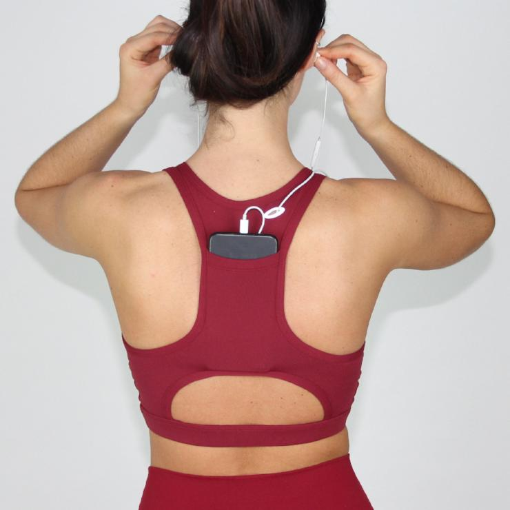 Burgundy Easy Listening Sports Bra