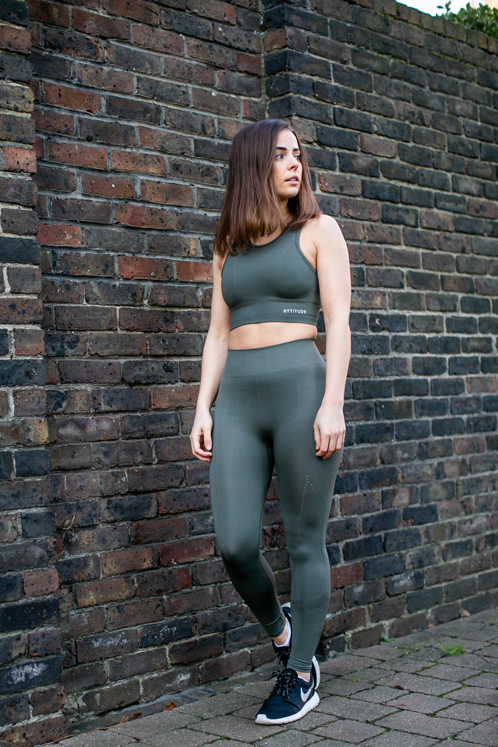 Luxe Seamless Leggings Khaki